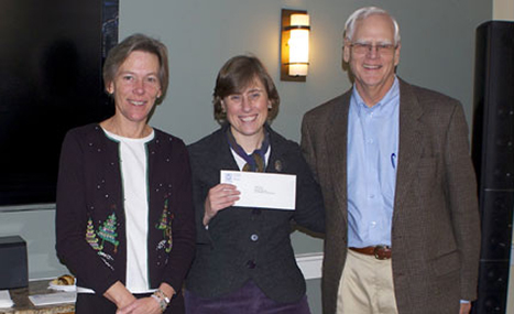 Margaretta Andrews, CFNan ED and Phil Stambaugh, President, present a grant check to Kat Robinson Gerieder, ED of A Safe Place