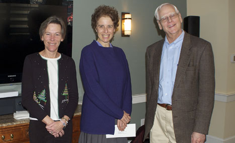 Mollie Glazer, Artistic Director of NCMC with CFNan ED, Margaretta Andrews and President, Phil Stambaugh